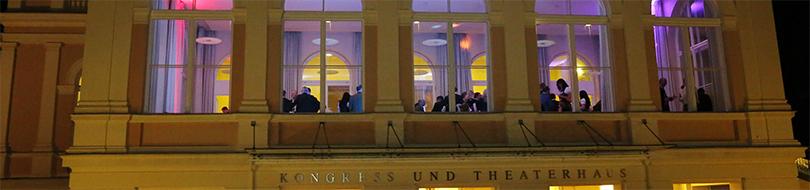Bad Ischl Kongresshaus Saal-Foyer von aussen